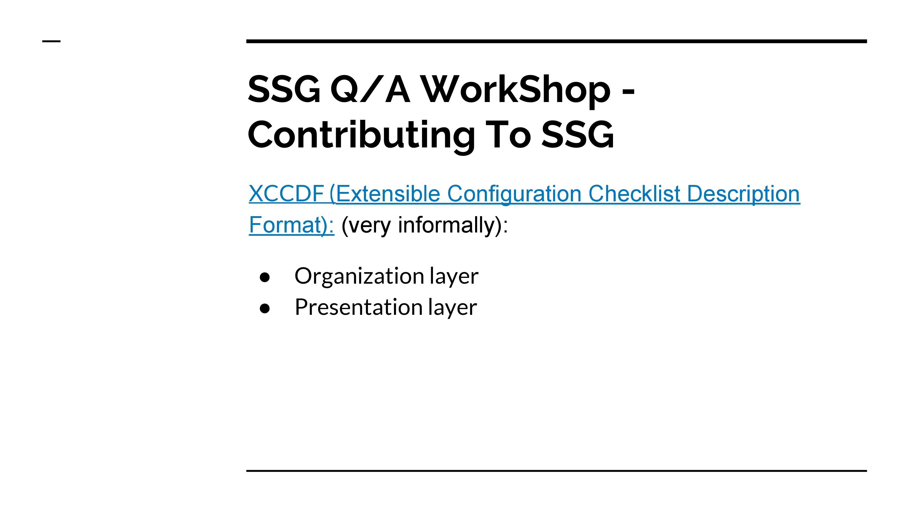 SCAP Security Guide Workshop