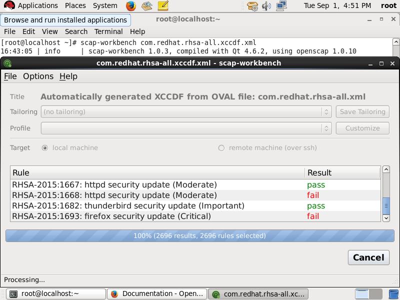 Vulnerability Assessment | OpenSCAP portal