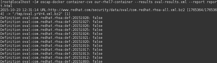 Docker container CVE scan