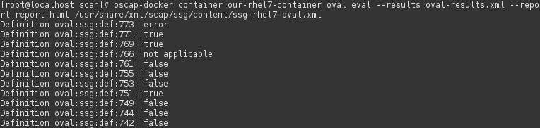 Scan docker container with custom policy